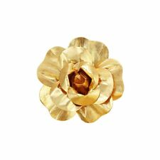 """6 pcs 8"""" Gold Artificial Large Roses Flowers Wall Backdrop Party Wedding"""