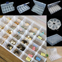15/10/24/28/36 Slots Adjustable Jewelry Storage Box Case Craft Organizer Beads