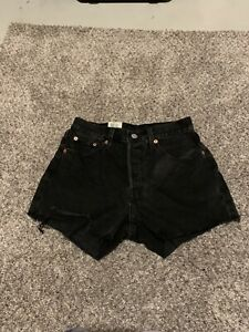 Womens Levis 501 High Rise Shorts Size 25