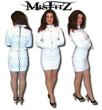 Misftz white faux leather deluxe straitjacket restraint dress 8-32 or custom