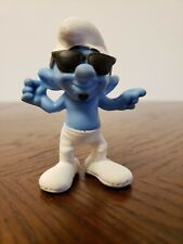 """The Smurfs Smooth Smurf PVC Figure 3"""" Toy McDonalds Happy Meal 2013"""