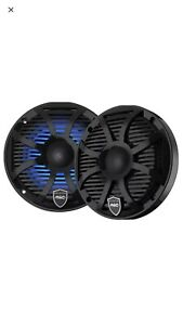 "Wet Sounds REVO 6-SWB  Marine RGB 6.5"" Speakers Black SW Closed Grille"
