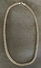 Faro 14k White Gold Hollow Link Chain Necklace