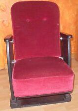 kino klapp einzel stuhl sessel alt kinostuhl  sitz um 1970 top nostalgie deko