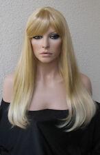 Kultiger Style - lange blonde Agnetha Traum Perücke für das 70er Jahre Event