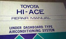 1978 TOYOTA HIACE   Air Conditioning  Factory Repair  Manual