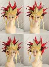 Muto Game Yu-Gi COS New Red,Yellow,Black Blending Cosplay First Explosion Wigs