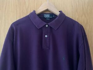 Vintage Ralph Lauren Polo Top, size L, colour Purple with Green Pony