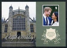 St Helena 2018 MNH Prince Harry & Meghan Royal Wedding 1v M/S Royalty Stamps