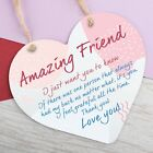 Best Friend Gift Heart Thank you Hanging Sign Friendship Gifts Plaque