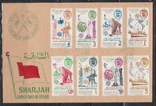 1965 Sharjah-KHOR FAKKAN Mi.25/32 A FDC Telecommunication UIT ITU [cd595]