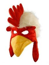 CHICKEN ROOSTER BIRD COSTUME PARTY HAT MASK - ADULT SIZE - NEW