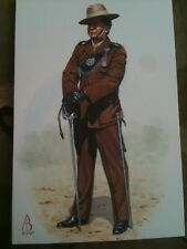 Military Postcard Captain Royal Gurkha Rifles Officer by Alix Baker
