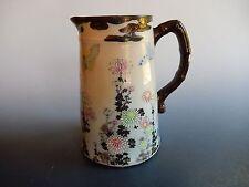 Japanese Import Kutani Porcelain Pitcher Butterfly Chrysanthemum