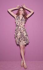 Matthew Williamson Pink Printed chiffon ruffle dress Sz 4
