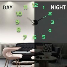 Diy Wall Clocks 3D Mirror Clock Large Acrylic Stickers Living Room Home Decorati
