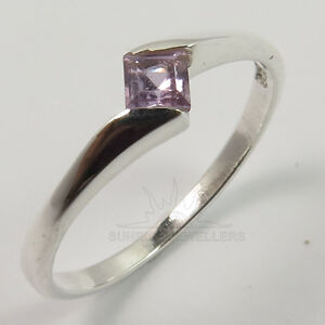 FINE Natural AMETHYST Gems Stylish Ring All Sizes 925 Solid Sterling Silver