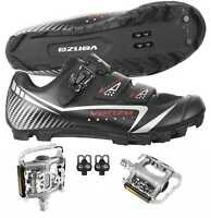 Venzo Mountain Bike Bicycle Cycling Shimano SPD Shoes with Pedals Size 42