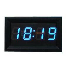 "Mini 0.4"" Digital Clock Time Blue LED For Car Motorcycle Motorbike Scooter Bike"