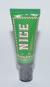NEW BATH & BODY WORKS NICE VANILLA BEAN NOEL LIP GLOSS SHINE BALM STICK GREEN