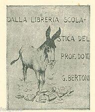 EX-LIBRIS du Prof. Dott. G. BERTONI. Italie.