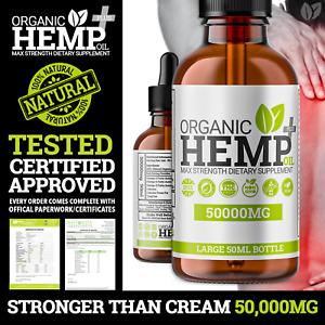 Hemp Oil Drops Supplement ❌STRONGER THAN HEMP CREAM ❌ 50,000MG