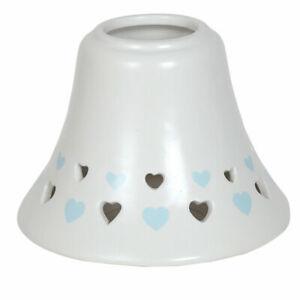 Aromatize Blue Heart Jar Lamp Shade, Blue Candles Accessories