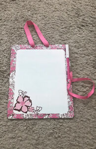 Lilly Pulitzer Alpha Phi Sorority dry erase Memo board Pink White Floral