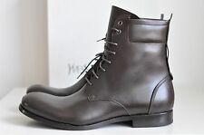 NIB Auth Saint Laurent Tall Combat Leather NOLITA Lace-up Boots Shoe 44.5 11.5