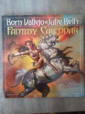 Boris Vallejo & Julie Bell's 2009 Fantasy Calendar Htf fantasy art
