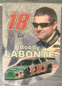 "NASCAR #18 ""BOBBY LABONTE""~DIE-CUT~INTERSTATE RACING~ 28"" X 40""~NEW~2003~FAST SH"