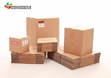"""100 x Small Packaging Cardboard boxes 10 x 8 x 6"""" Single Wall"""