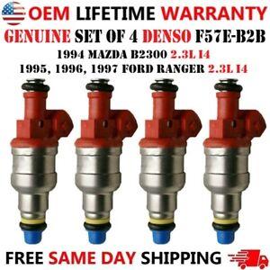 OEM x4 DENSO Fuel Injectors For Ford Ranger Mazda B2300 2.3L I4 94-97 F57E-B2B