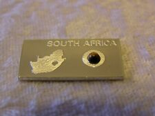 SOLID SILVER INGOT of SOUTH AFRICA containing a genuine TIGER EYE GEMSTONE