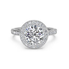 14K Real White Gold Size 6 7 1.15 Ct Round Cut Bridal Diamond Engagement Ring