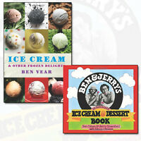 Ben and Jerry's Homemade Ice Cream and Dessert Book Collection 2 Books Set NEW