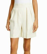 Theory Women's Luxe Linen Pleated Shorts Beige Size 2 NWT $275