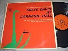 MILES DAVIS at Carnegie Hall VINYL LP record CBS New Zealand nz 1962 album EX/VG