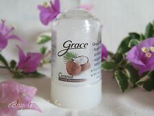 Grace Pure Natural Deodorant Roll on Stick Alum Crystal Deo Stone 40g / 70g Coconut 70 Gram