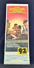 ORIGINAL 1975 92 IN THE SHADE Movie Poster 14 x 36 PETER FONDA