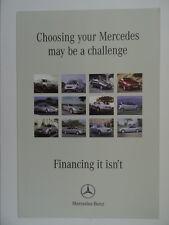 Mercedes Financing Brochure 2004 - CL500,SL350,S320,CLK200,A140,SLK200,C180,E220