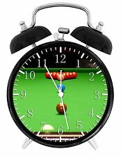 "Snooker Billiard Alarm Desk Clock 3.75"" Home or Office Decor E418 Nice For Gift"