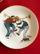 """Norman Rockwell Plate, decorative Gorham China, """"Fancy Footwork"""" 1981"""