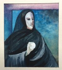 Miniature Gouache Portrait Clytemnestre Oeuf PIERRE-HENRI BOUSSARD Sard 1986 #42