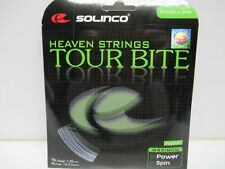 3 SETS: SOLINCO TOUR BITE 16L (1.25) SILVER CO-POLYESTER TENNIS STRINGS