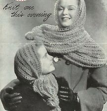 Vintage Knitting pattern-how to make a pretty and easy lace scarf- any ply yarn