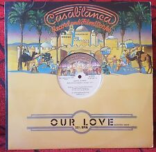 "DONNA SUMMER ** Our Love / Sunset People ** VERY SCARCE 1979 Spain 12"" Single"
