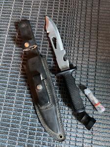 Vintage HAND MADE SABURO JAPAN SURVIVAL MASTER KNIFE III SKSRS 3