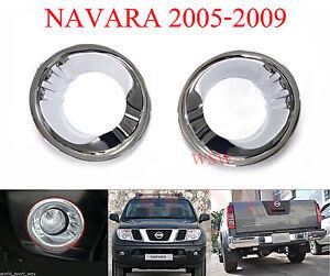CHROME FOG LAMP LIGHT COVER TRIM FOR NISSAN NAVARA FRONTIER D40 05 06 07 08 09