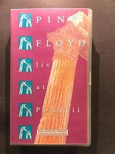 Pink Floyd Live at Pompeii VHS Video